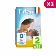 TIDOO 3x64 couches Eco MINI T2 3/6 kg