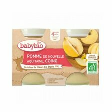 Babybio Petits Pots Pomme Coing 4m