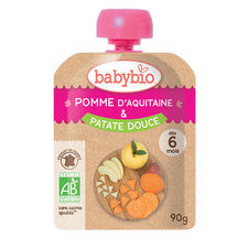 Babybio Gourde Pomme Patate Douce 6m