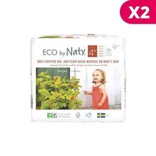 Naty 2x25 Couches éco Taille 4+ - 9/20kg