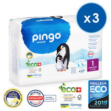 Pingo 3 x 27 Couches Taille 1 (2-5kg)
