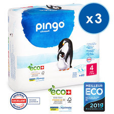 Pingo 3x40 Couches Taille4 Maxi (7-18kg)