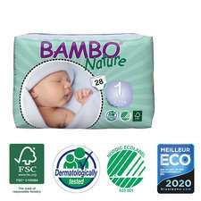 Bambo Nature 28 Couches T1 (2-4kg)
