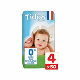 TIDOO 50 Couches Taille 4 Large (7/18kg)