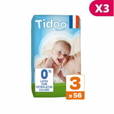 TIDOO 3x56 Couches Taille 3 Medium (4/9kg)