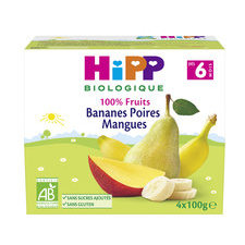 HiPP 100% Fruits Banane Poire Mangue 6m