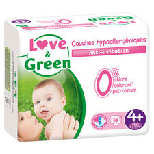 Love & Green 28 couches T4+ 9/20 kg