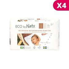 Naty 4 x 25 Couches éco Taille 1 - 2/5kg