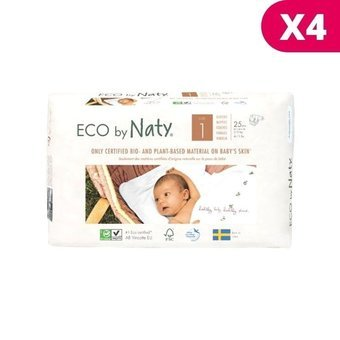 Pack Economique 100 Couches Ecologiques Taille 1 Eco By Naty