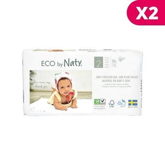 Naty 2 X 33 Couches éco Taille 2 36kg