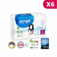 Pingo 6 x 27 Couches Taille 1 (2-5kg)