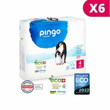 Pingo 6x40 Couches Taille4 Maxi (7-18kg)