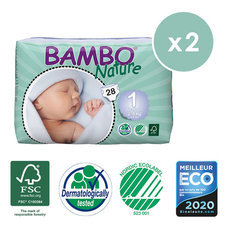 Bambo Nature 2x28 Couches T1 (2-4kg)