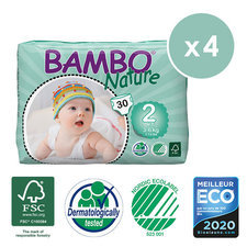 Bambo Nature 4x30 Couches T2 (3-6kg)