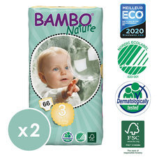 Bambo Nature 2x66 Couches T3 (5-9kg)