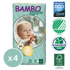 Bambo Nature 4x66 Couches T3 (5-9kg)