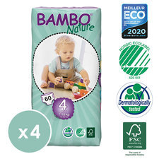 Bambo Nature 4x60 Couches T4 (7-18kg)