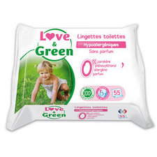 Love & Green Lingettes de toilette