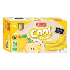 Compote bio cool fruits pomme banane acérola - 12 x 90 g