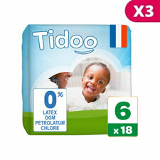 Tidoo 3x18 couches Taille 6  XXL (16-30kg)