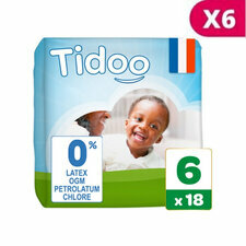 Tidoo 6x18 couches Taille 6  XXL (16-30kg)