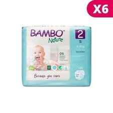 Bambo Nature 6x30 Couches Taille 2 Mini (3-6kg)