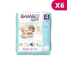 Bambo Nature 6x24 Couches Taille 4  (7-14kg)