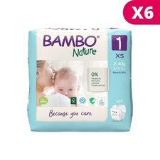 Bambo Nature 22 Couches Taille 1 x 6 (2-4kg)