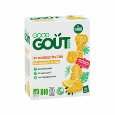Good Gout Biscuits Animaux citron 10 mois